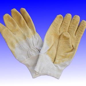 Handschuhe gelb schrumpfgerauht